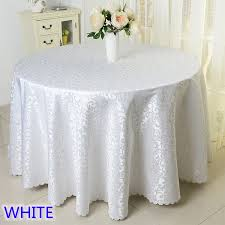 table covers for weddings online shop white colour jacquard table cloth damask pattern table