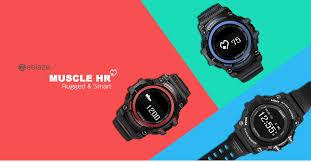 zeblaze muscle hr smartwatch 29 05 online shopping gearbest com