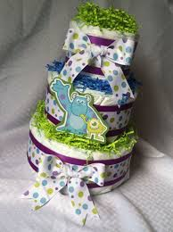 Monster Inc Decorations Baby Shower Decorations Diaper Cake Baby Or Boy Monsters