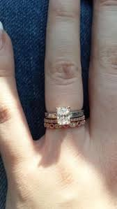 gold wedding band with white gold engagement ring show your white gold engagement ring with a gold wedding