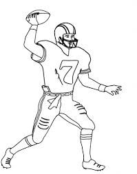 nfl football player coloring pages aecost net aecost net