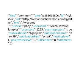 json touchdevelop cloud service api json touchdevelop cloud