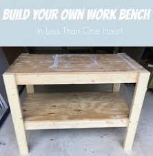 easy garage wood shop work table plans 2x4 fast free build make