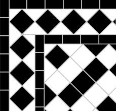 Victorian Mosaic Floor Tiles Black U0026 White Victorian Tiles U2014 Mosaics By Post
