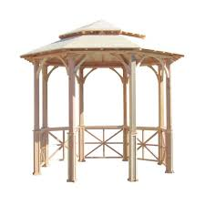 home depot patio gazebo wood gazebos sheds garages u0026 outdoor storage the home depot