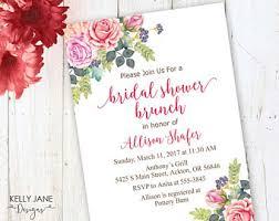 bridal shower brunch invite bridal shower brunch etsy