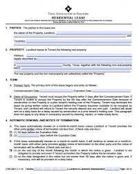 sample residential lease agreement template sample rental