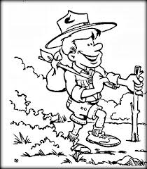 free printable boy scout coloring pages color zini