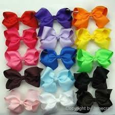 pictures of hair bows 15pcs 5 5 big hair bows boutique baby alligator clip
