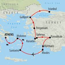 Map Of Santorini Greece by Turkey U0026 Greece Private Tour On The Go Tours
