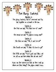 thanksgiving reader s theater five plump turkeys by happy beginnings