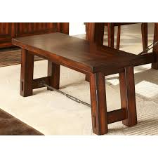 Dining Set With Bench Liberty Furniture Tahoe Trestle Dining Table Hayneedle