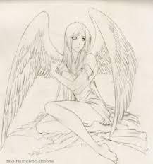 angels drawings pencil angel anime drawings in pencil hd wallpaper