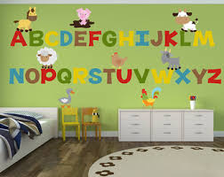 Alphabet Wall Decals For Nursery Abc Wall Decal Etsy