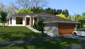 slope house plans sloping land 4 bedroom 2 living areas garage house plans