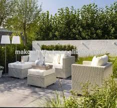 patio synthetc wicker rattan small l shape sofa set furniture