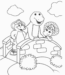 coloring pages cool barney coloring pages download print