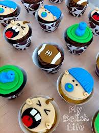 little guy baby shower cupcakes football theme cakecentral com