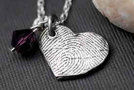 footprint necklace personalized custom fingerprint jewelry heart necklace personalized