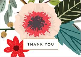 free thank you cards botanical printable cards