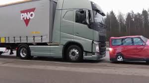 volvo truck trailer volvo trucks u2013 emergency braking at its best braking car