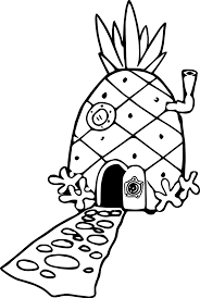 pineapple house coloring page wecoloringpage