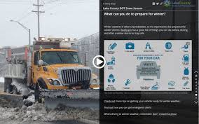 Illinois Road Construction Map by Snow Operations Lake County Il