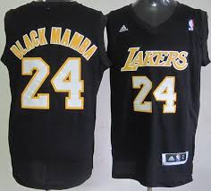 los angeles lakers 24 kobe bryant black mamba fashion swingman