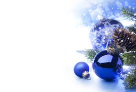 White Christmas Tree With Blue Decorations Blue And White Christmas Backgrounds U2013 Happy Holidays