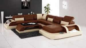 waves sectional sofa media room leather furniture upscale