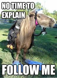 No Time To Explain Meme - horse memes the no time to explain meme wattpad