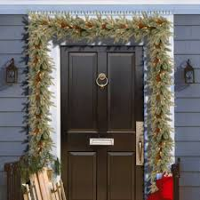 darby home co feel real frosted arctic spruce pre lit garland