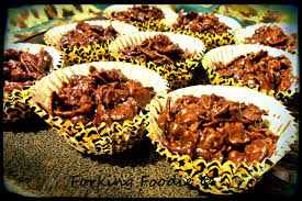 forking foodie chocolate cornflake cakes