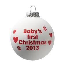 baby s 2011 white tree bauble