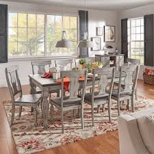 eleanor grey two tone wood butterfly leaf extending dining set by