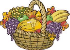 thanksgiving food basket clipart