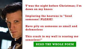 doctor who u0027 fans u0027twas the night before christmas u0027 contest winner