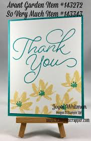2017 sale a bration thank you card using avant garden and so very