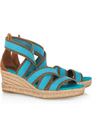 tory burch stretch canvas espadrille wedge sandals my color fashion