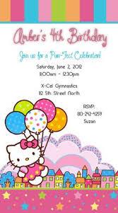 hello kitty birthday invitations custom invitations