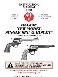 new ruger single six manual revolver trigger firearms