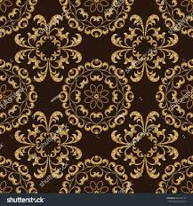 vector seamless gold pattern victorian style stock vector