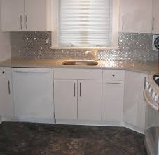 stainless steel mosaic tile backsplash stainless steel circles stainless steel splashback splashback