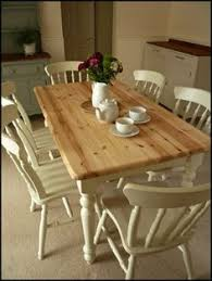 Pine Kitchen Table And Chairs Painted In Annie Sloane Old Ochre - Pine kitchen tables and chairs