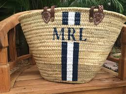 monogrammed baskets monogrammed bag personalized straw bag customized handbag