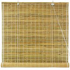 amazon com oriental furniture burnt bamboo roll up blinds