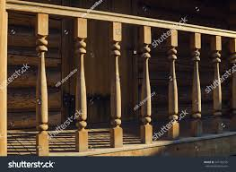 Banister Pipeline Construction Wooden Banister House Exterior Stock Photo 347135735 Shutterstock