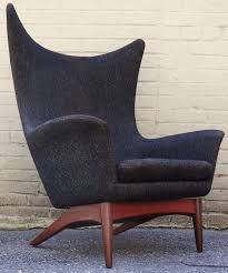contemporary wing chairs rare 1950 s h w klein danish modern reclining wing chair at