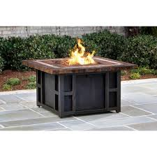 slate fire pit table goldie s 44 in slate fire pit table in antique bronze with strip