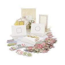 wedding fan program kits griffin pretty paintings cardmaking kit 7682706 hsn